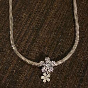 "Pandora silver necklace 16"""